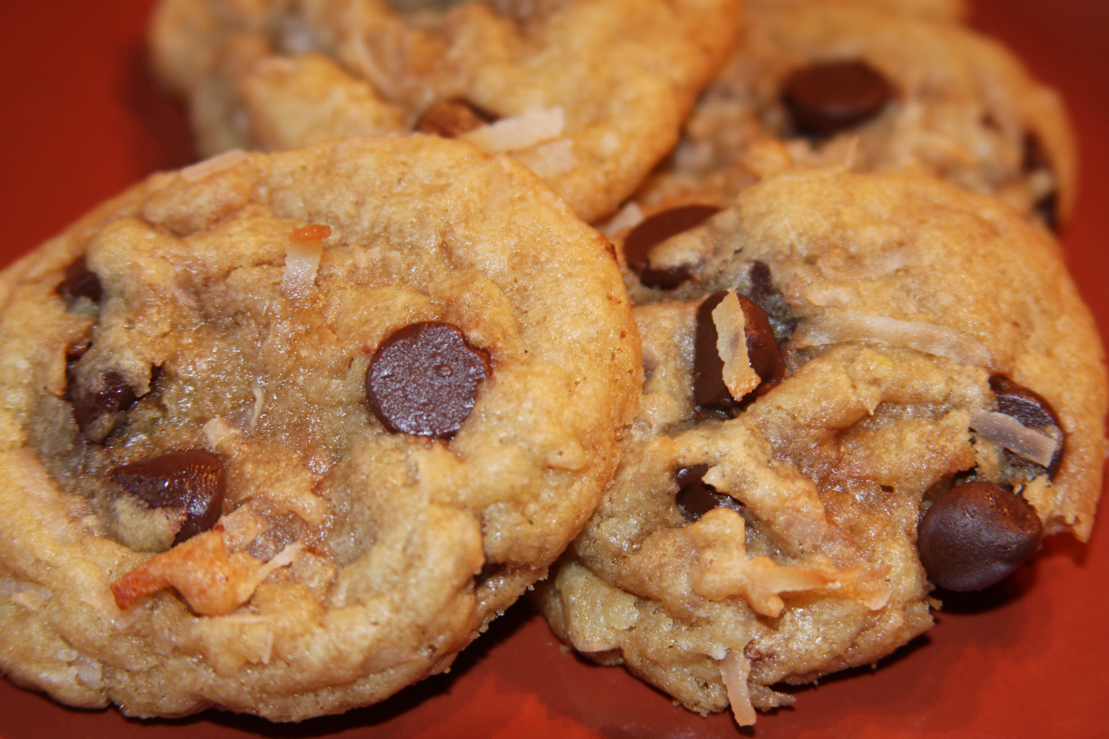 Coconut Chocolate Chip Cookies   OhMyGoodyGoodness